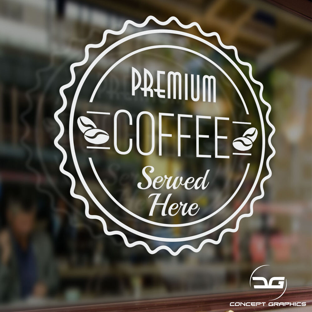 Coffee Shop Advertisement Takeaway Cafe Window Door Sign