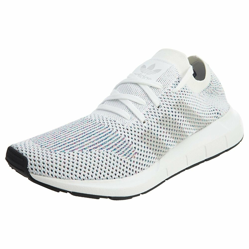 6487e6e13 Details about adidas Originals Mens Swift Run Primeknit Running Shoe  White Black CG4126