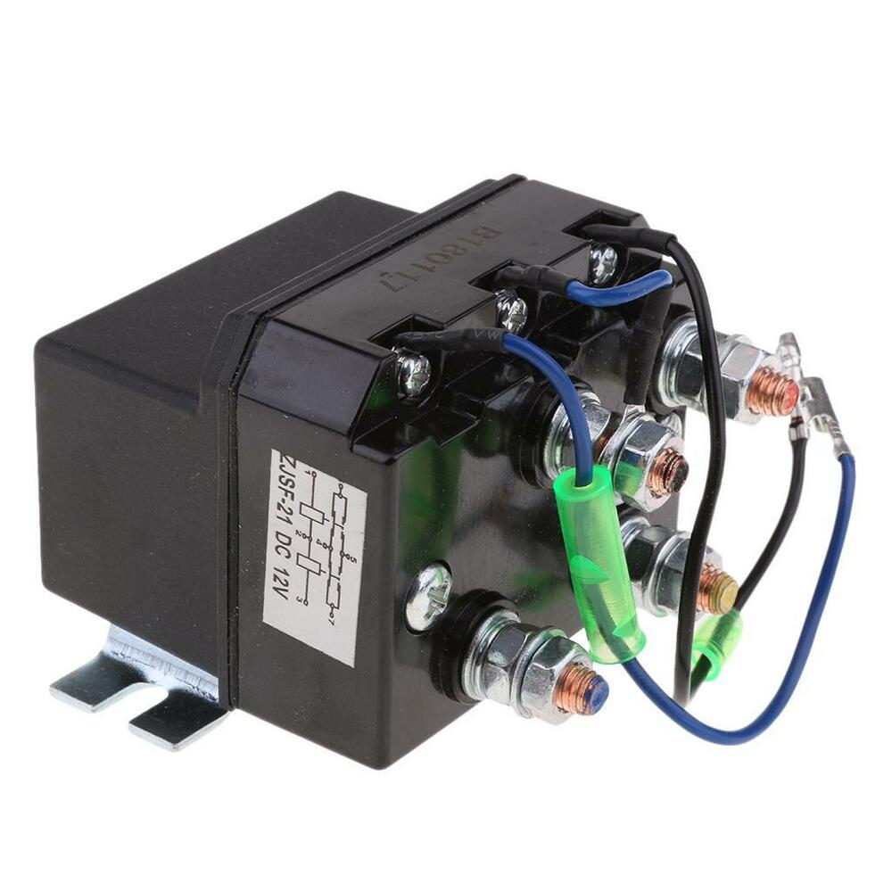 Dc 12v 200a Winch Motor Reversing Solenoid Relay Switch Contactor Ebay Electric