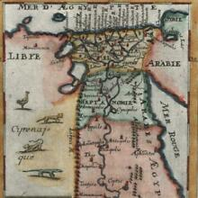 Africa Ancient Egypt pictorial 1719 old Mallet map hand color