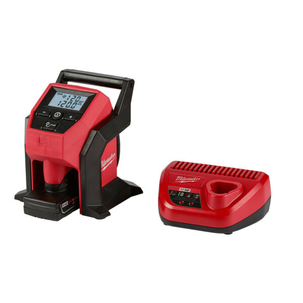 Milwaukee M12 Compact Inflator Kit W/ 4.0Ah Battery & Charger 2475-21XC