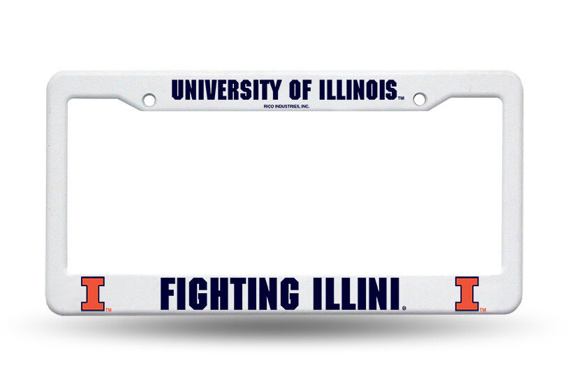 Illinois Quot Fighting Illini Quot Official License Plate Frame