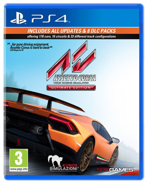 VIDEOGIOCO ASSETTO CORSA ULTIMATE EDITION PS4 SPORT CORSE ITALIANO PLAYSTATION 4