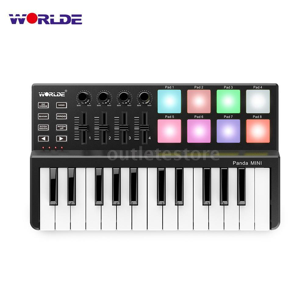 worlde panda mini 25 key ultra portable midi keyboard controller with usb m4y5 ebay. Black Bedroom Furniture Sets. Home Design Ideas