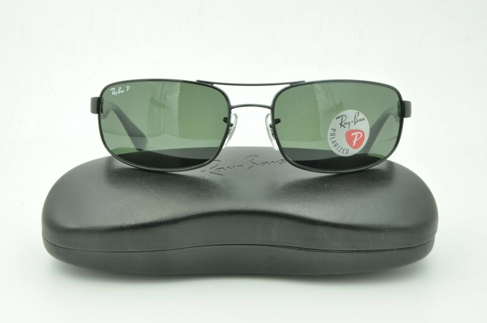 7ddb6a126f Details about Ray Ban RB 3445 Sunglasses 002 58 Black   Green Polarized  Lenses 61mm