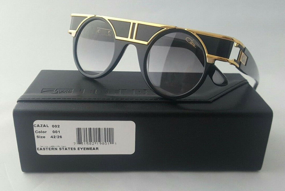 16bb98dc1042 Details about CAZAL LEGENDS MOD. 002 COL. 001 LTD EDITION 24K GOLD BLK  SHADES MADE IN GERMANY
