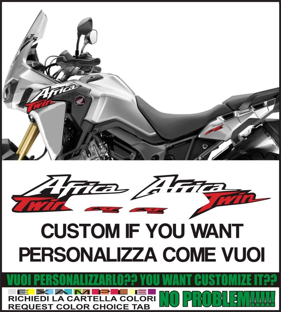 Details about kit adesivi stickers compatibili africa twin crf 1000 l customize