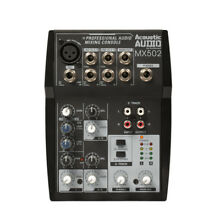 Acoustic Audio MX502 Mixer 5 Channel Premium Pro Audio Mixing Console