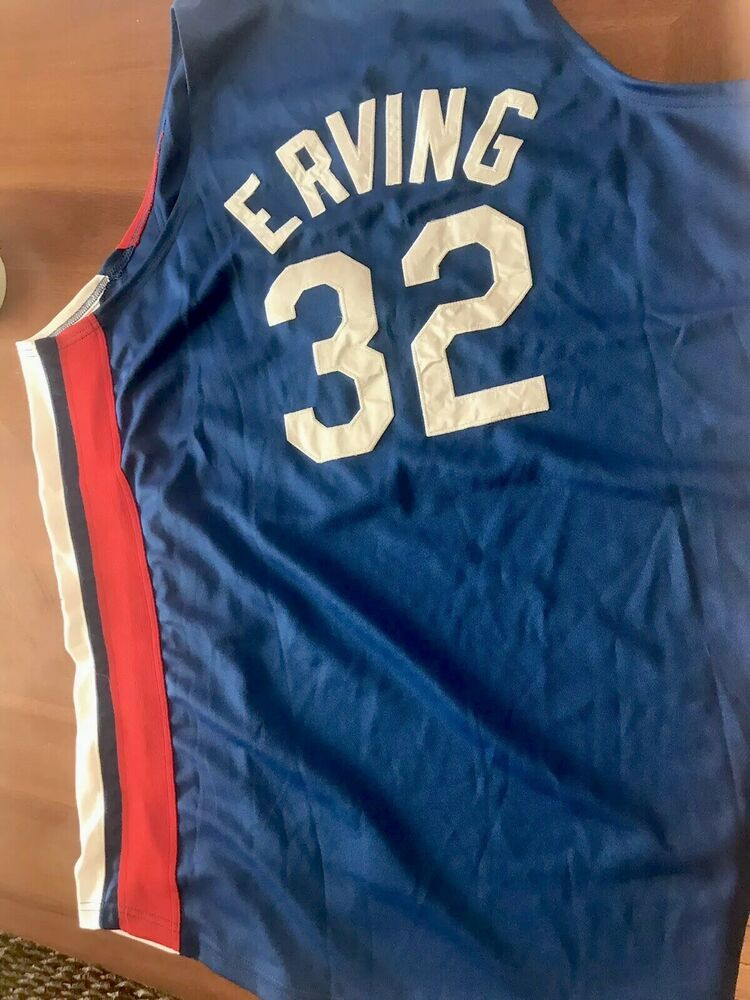 Details about Julius Erving Dr J Mitchell   Ness NY Nets Jersey Size 52 2XL  Sixers New York bb097cfe1