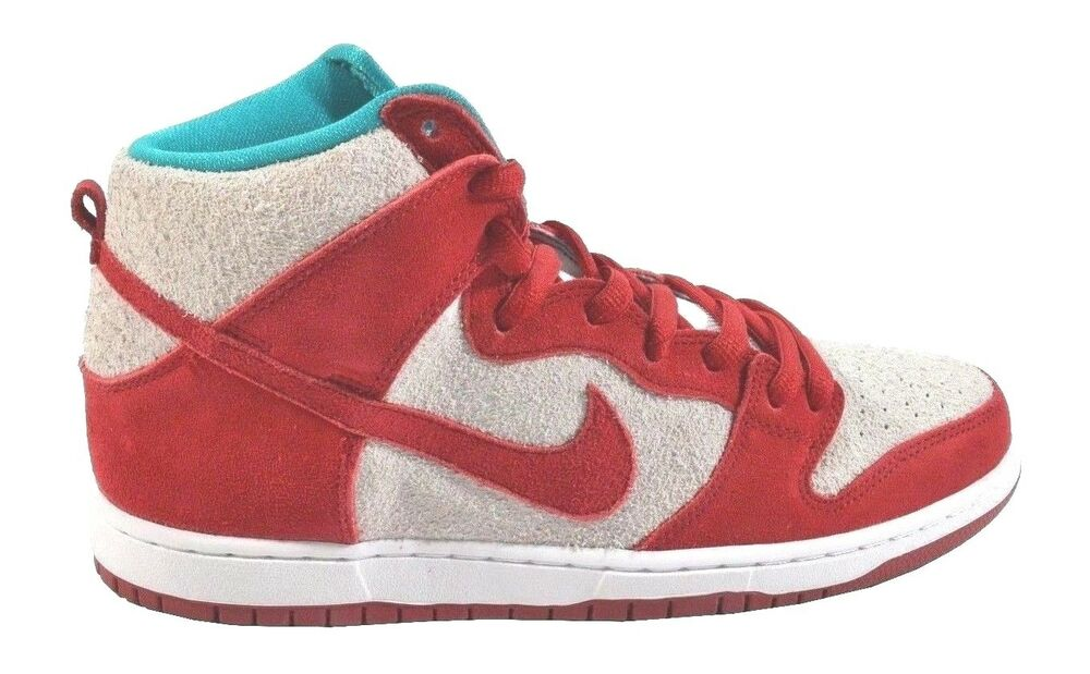 size 40 ce137 d8abd NIke DUNK HIGH PRO SB Gym Red White Skateboarding Discounted (398) Men s  Shoes   eBay