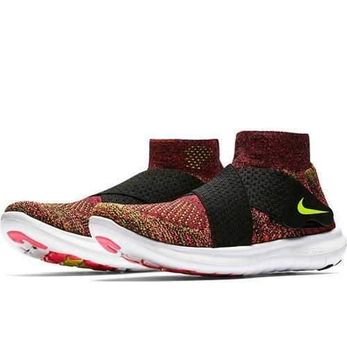 4594d8e19 Details about Nike Women s Free Rn Motion Flyknit Running Shoes 8.5 Black  Volt Pink Multi Gym