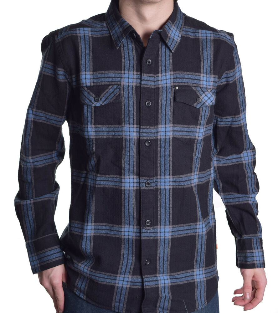 7b068305613 Details about Quiksilver Men s Waterman Collection Lincoln Plaid Button Up  Shirt Choose Size