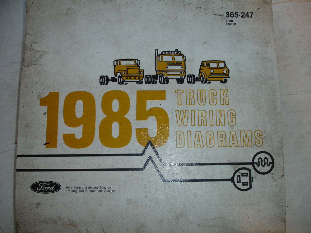 details about 1985 ford truck f600 - f800 electrical wiring diagrams  service schematic manual