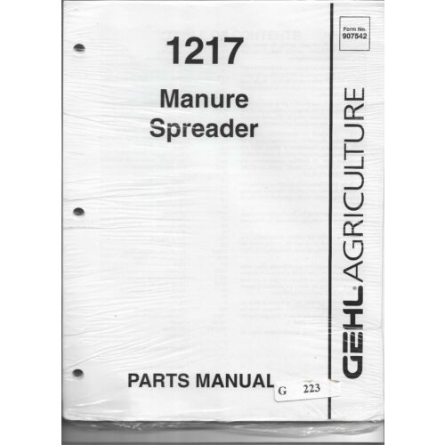 original-oe-oem-gehl-model-1217-manure-spreader-parts-manual-907542ap0997