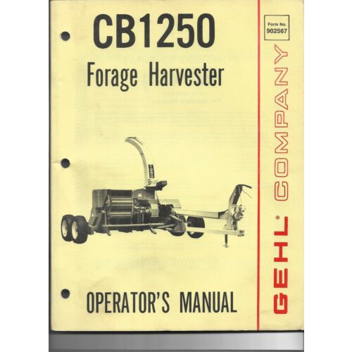original-oe-oem-gehl-cb1250-forage-harvester-operators-manual-90256725m1p980