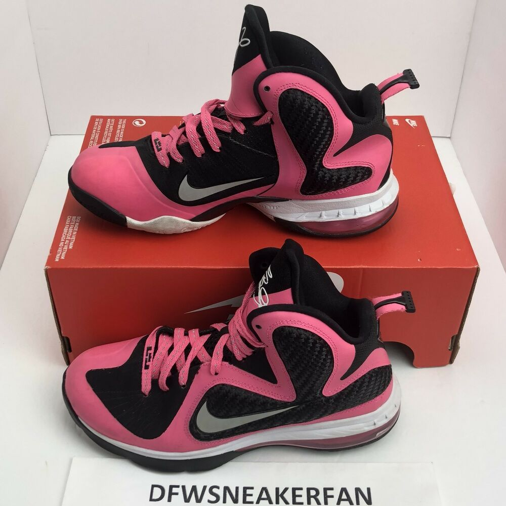 ebcc0233bacd0 Details about Nike Lebron 9 GS Size 6.5Y 472664-600 Black Pink Youth Air  Max Basketball Shoes
