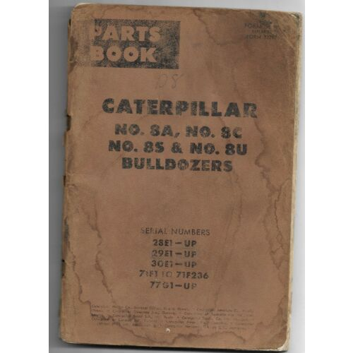 original-caterpillar-8a-8c-8s-8u-bulldozers-parts-book-catalog-manual-ue34469