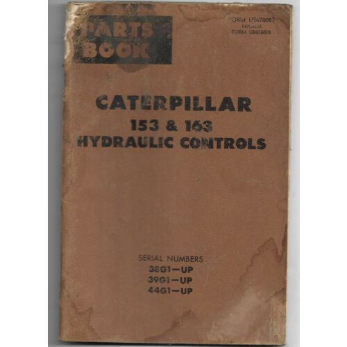 original-caterpillar-model-153-163-hydraulic-controls-parts-book-catalog-manual