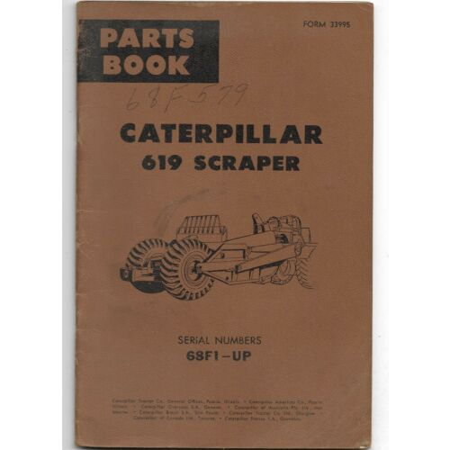 original-oem-caterpillar-model-619-scraper-parts-book-catalog-manual-33995