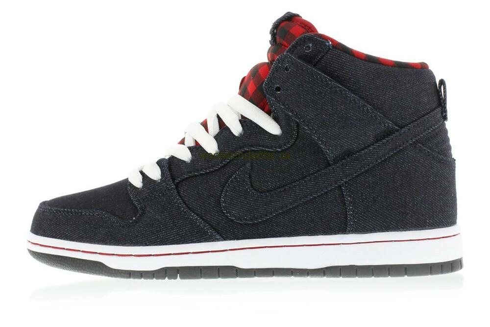 sports shoes e136e bd77c Details about Nike DUNK HIGH PREMIUM SB Dark Obsidian Lumberjack 313171-441  (605) Men s Shoes