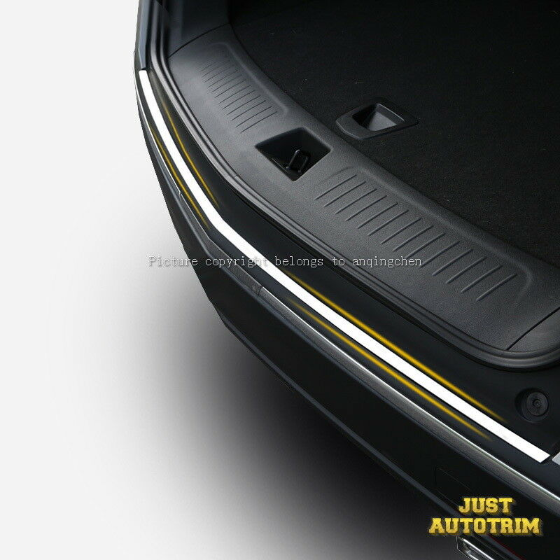 Sliver Brushed Stainless Steel Rear Bumper Sill Plate Trim