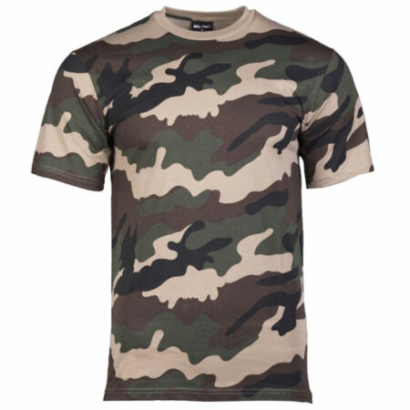 img-French Army CE European Camo Camouflage Short Sleeve Military T-Shirt > S - XXL