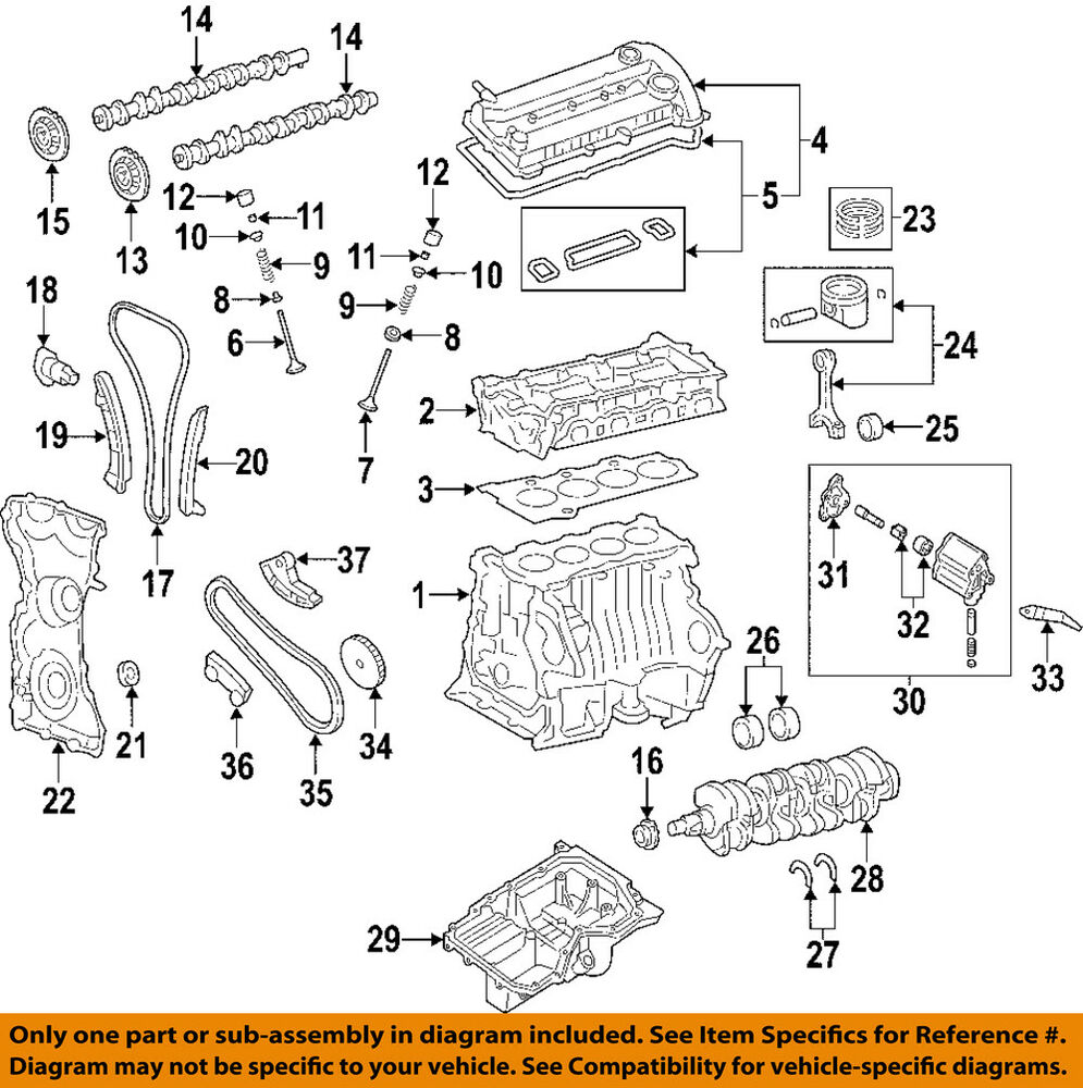 Mazdaspeed 3 Engine Diagram Mazda Oem 04 13 Crankshaft Crank Seal L3g610602 Ebay