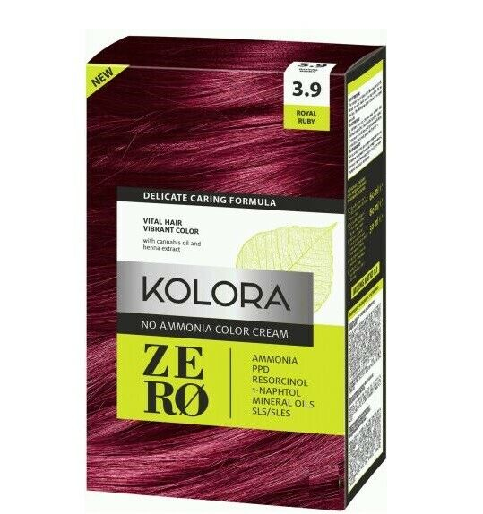 Kolora Permanent 3 9 Colour Cream Hair Dye Deep Cherry Red With