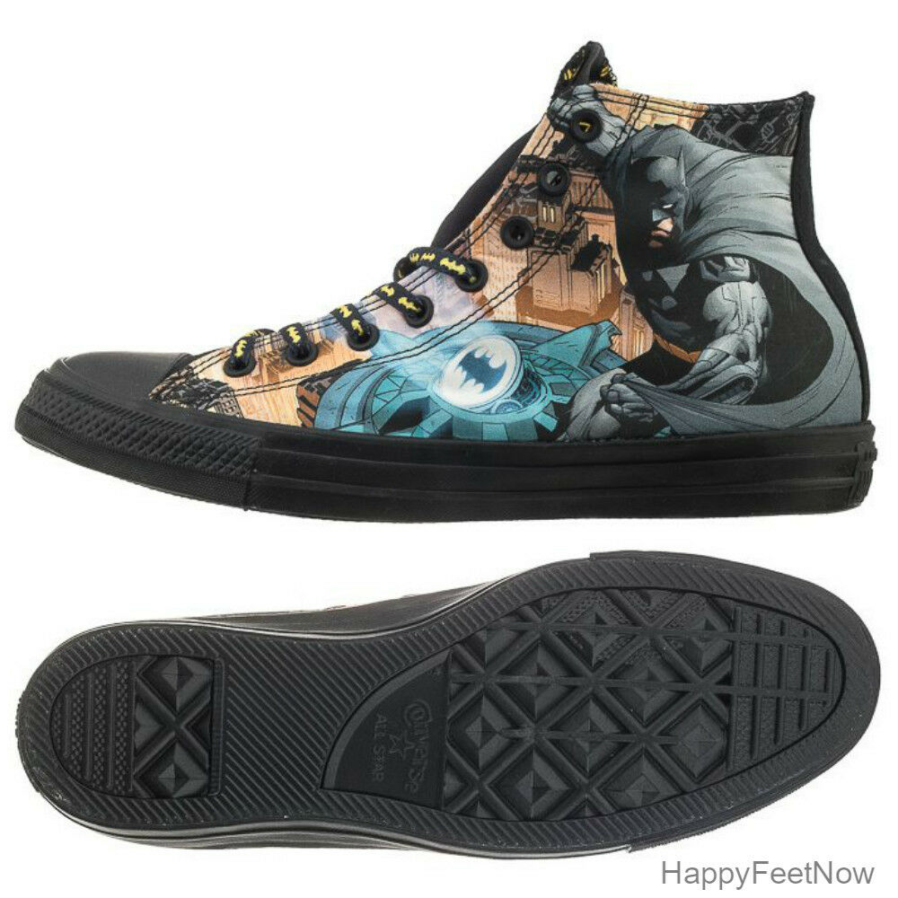 803a9e570640 Details about CONVERSE CHUCK TAYLOR HI ALL STAR DC COMICS BATMAN MEN S SHOES  SIZE US 5 150505C