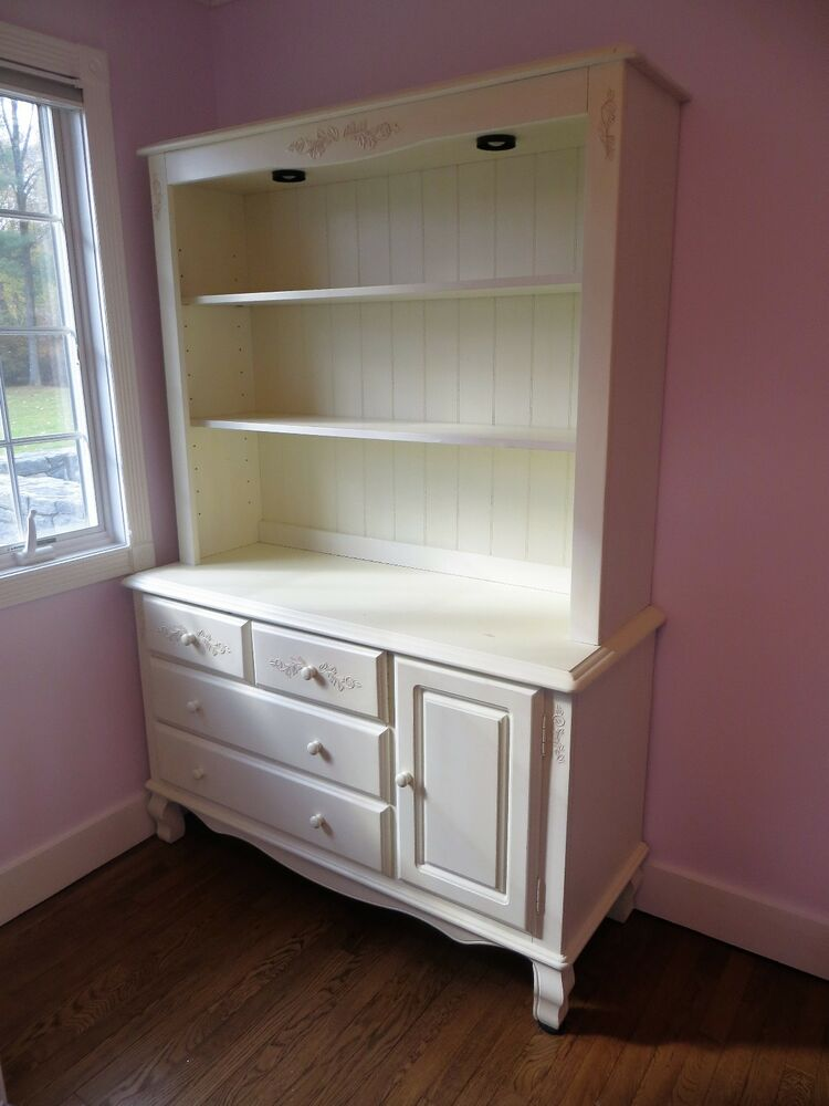 Details About Childrenu0027s Dresser With Hutch, Changing Table   Antique White  *Now 60% Off*