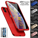 New ShockProof 360 Hybrid Silicone Case Cover for Apple iPhone X 8 7 6S Plus 5s