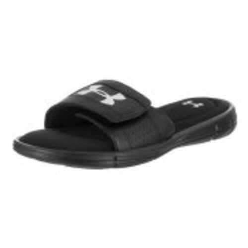 2f91af85c620 Details about Under Armour UA M ignite V SL Black White Men Sandal Slides  Slippers SIZE 10