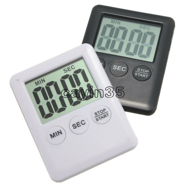LCD Display Digital Kitchen Cooking Timer Count-Down Up Clock Alarm Magnetic UK