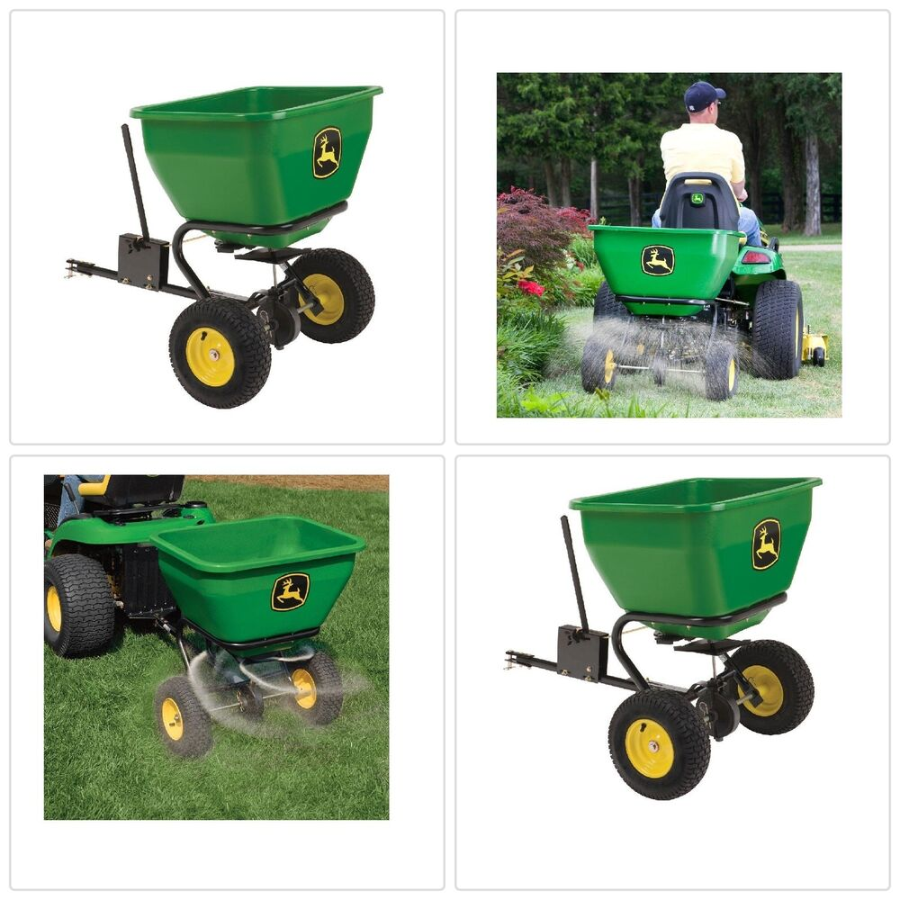 Push Lawn Spreader Riding Tractor Tow Mower Steel Frame
