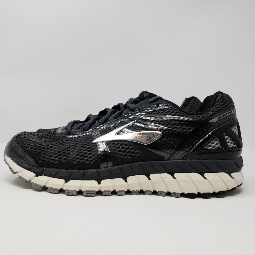 5ff69f22f00 Details about Brooks Beast 16 Mens Shoe Anthracite Black Silver multiple  wide sizes 8.5