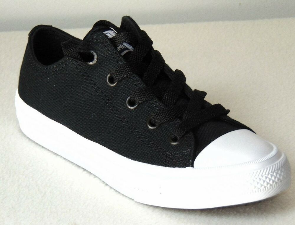 5e42399c611e9c Boys Youth Converse CTAS II Oxford Sneakers Black-White Style 350149C Size   US 1 888753608694