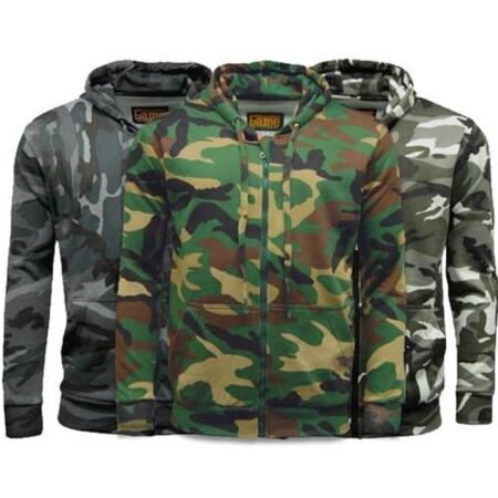 img-NEW GAME HEAVYWEIGHT 300gsm COTTON/POLYESTER CAMOUFLAGE ZIP HOODIE S to 5XL, ek