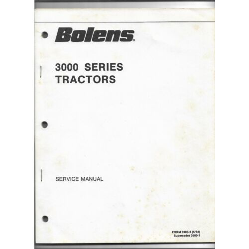 original-oe-oem-may-1988-bolens-3000-series-tractor-service-manual-39802