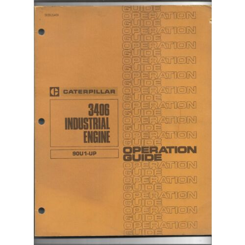 original-caterpillar-3406-industrial-engine-operators-manual-sebu5409-may-1977