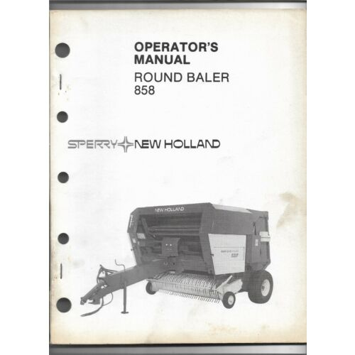 original-oe-sperry-new-holland-model-858-round-baler-operators-manual-42085810