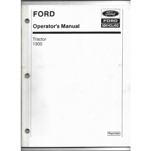 original-oe-ford-new-holland-model-1300-tractor-operators-manual-42130011