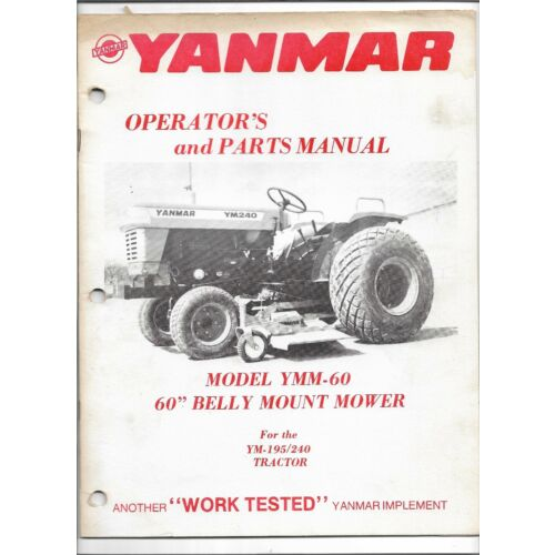 original-yanmar-model-ymm60-belly-mount-mower-operators-parts-manual-8-081-549
