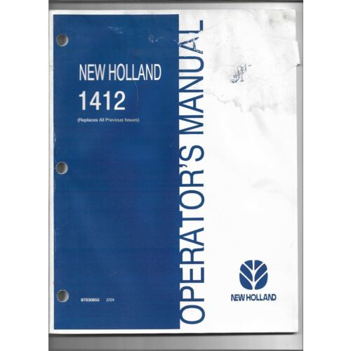 original-oe-oem-new-holland-model-1412-disc-mower-conditioner-operators-manual