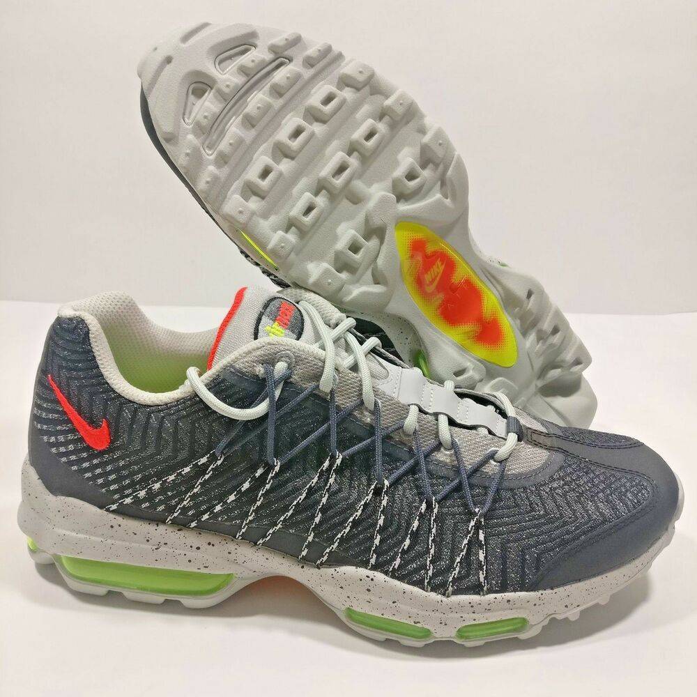 los angeles 18764 4f5cc Details about Mens Nike Air Max 95 Ultra JCRD Running Shoes Gray Sz 9.5 10  10.5 (749771-006)