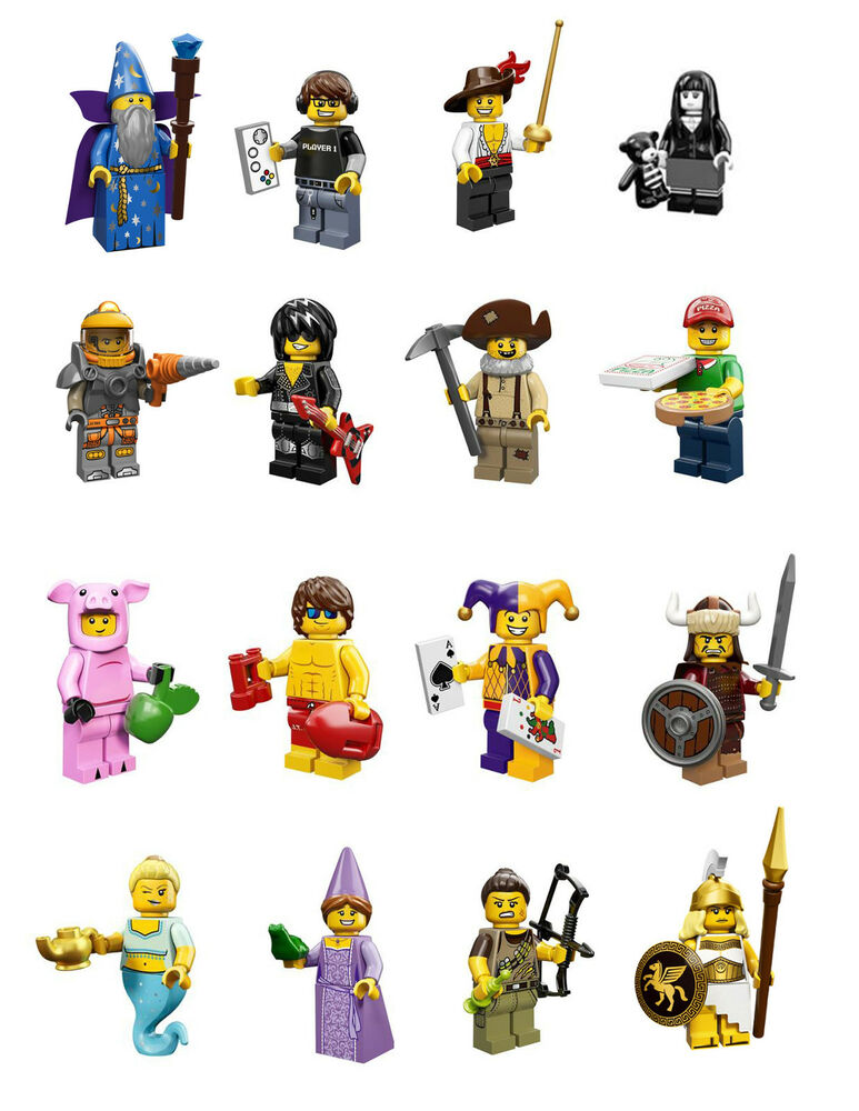 Complete Lego Minifigures Series 12 698887073455Ebay 16 Set Of 71007 Y6byvfg7