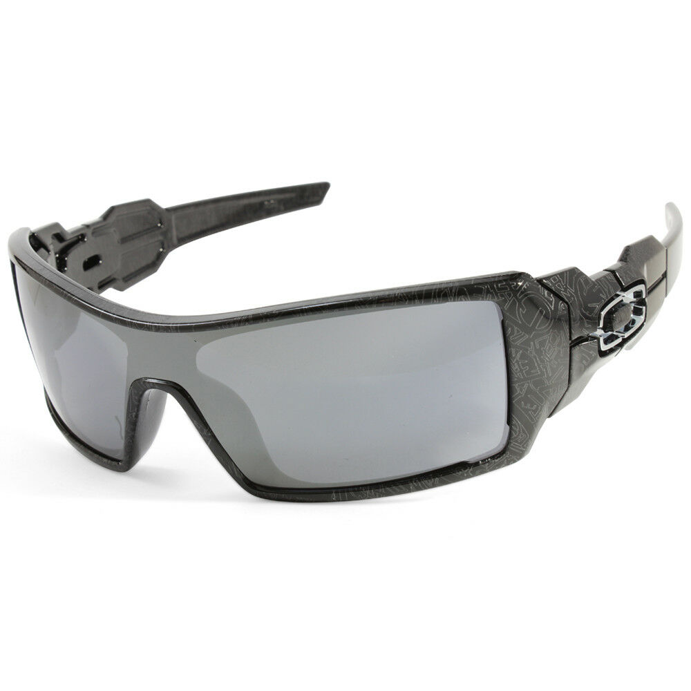 9c38e40183 Details about Oakley Oil Rig OO9081 24-058 Black Ghost Text Black Iridium  Men s Sunglasses