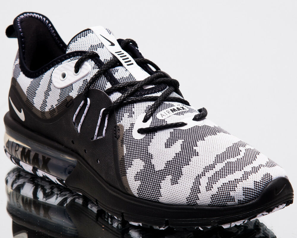 timeless design 048ce 69d59 Details about Nike Air Max Sequent 3 Premium Camo Men New Running Shoes  Black White AR0251-001