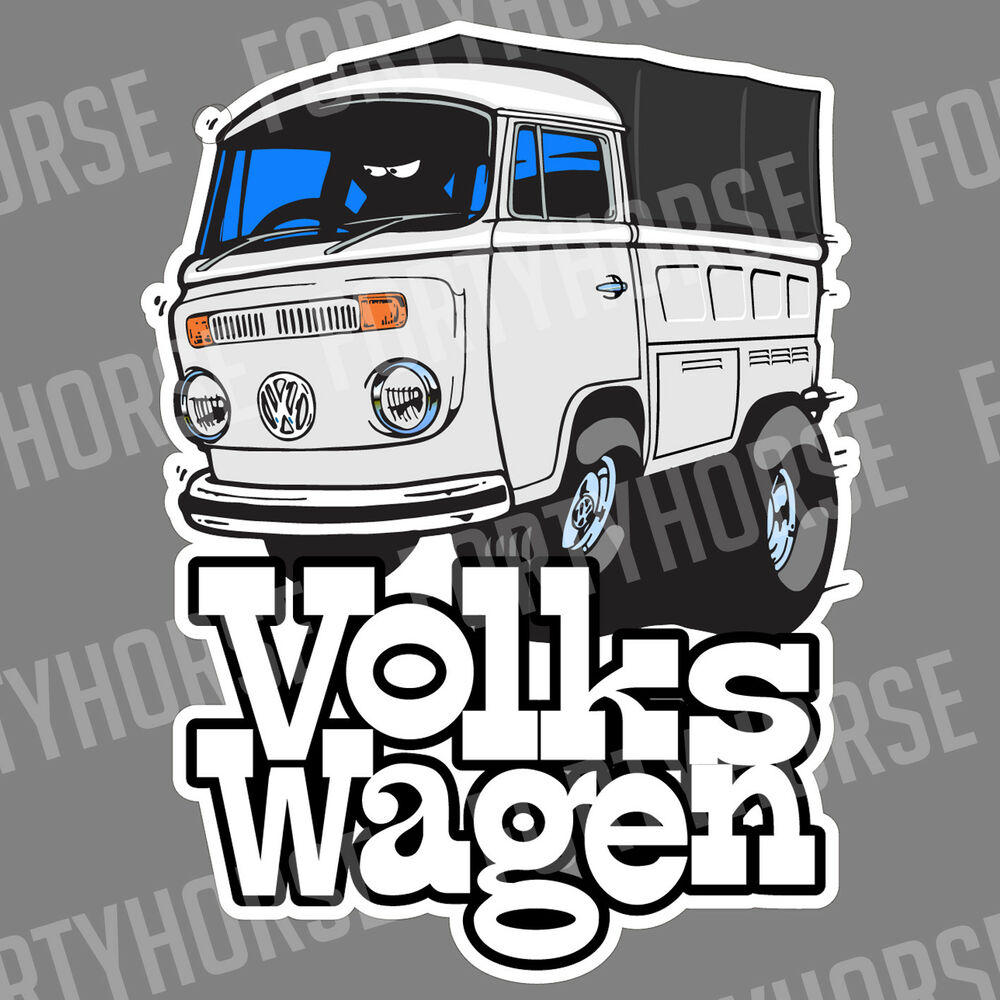 Details about volkswagen vw stickers late bay window kombi single cab