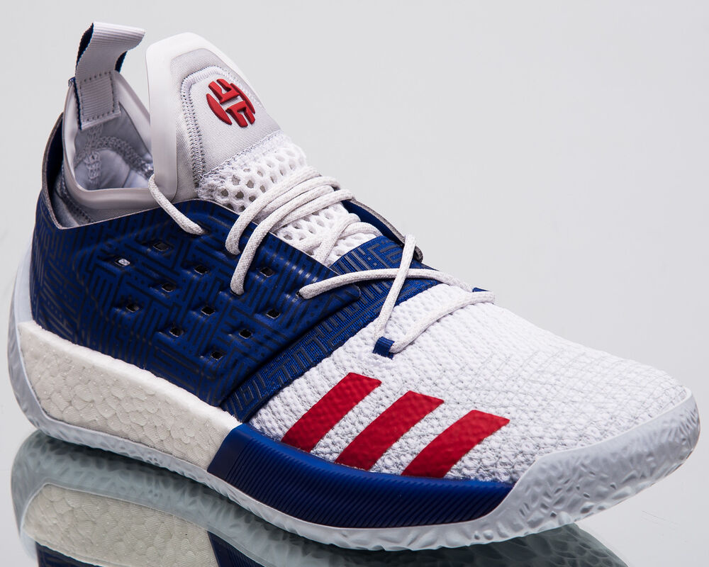 new style a055d 9491b Details about adidas Harden Vol. 2 USA Men New James Harden White Basketball  Sneakers AQ0026