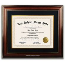 University College High School Personalized Diploma w/ Gold Seal Novelty Ivory